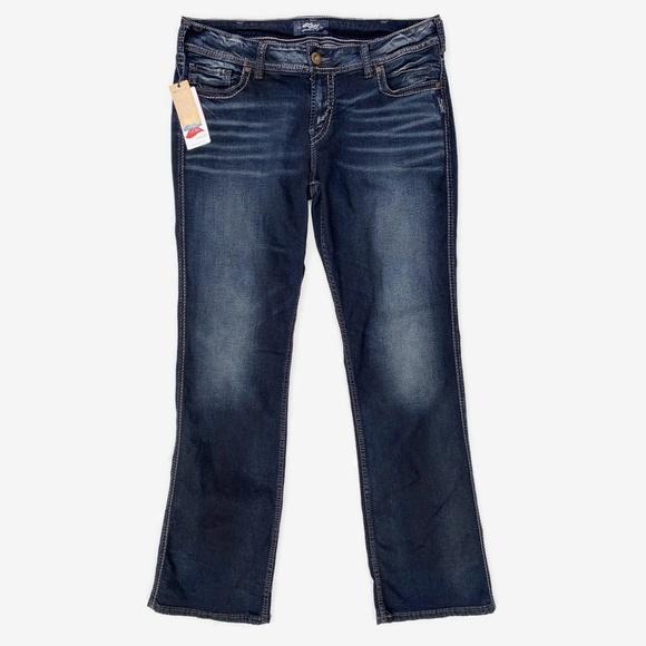Silver Jeans Denim - Silver Jeans Suki Mid Slim Boot Jeans Dark Wash 32